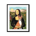 Mona Lisa - Basenji Framed Panel Print