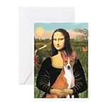 Mona Lisa - Basenji Greeting Cards (Pk of 10)