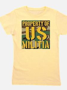 Property of US Militia Girl's Tee