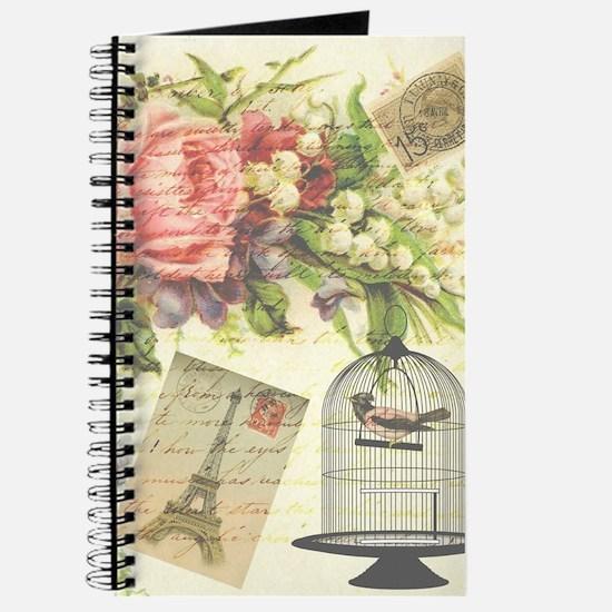 pretty vintage victorian birdcage and flow Journal