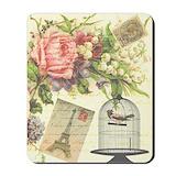 Vintage floral Classic Mousepad