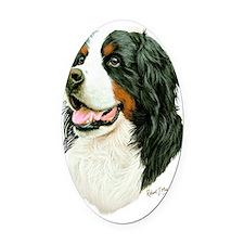 Bernese Mountain Dog Oval Car Magnet