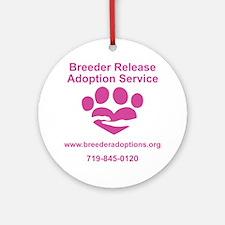 Breeder Release Adoption Service Lo Round Ornament