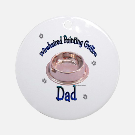 Wirehaired Dad Ornament (Round)