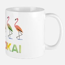 March of the Pastel Tropical Flamingos  Mug