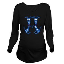 Twin Dogs  Long Sleeve Maternity T-Shirt