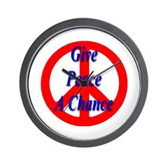 Give Peace A Chance Wall Clock