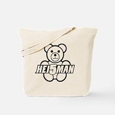 Teddy Black Line Tote Bag