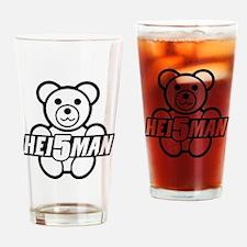 Teddy Black Line Drinking Glass