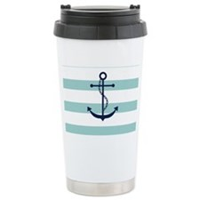 Blue Anchor on Mint Str Travel Mug