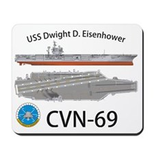 CVN-69 USS Dwight D Eisenhower Mousepad