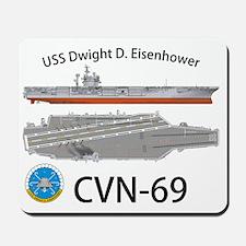 CVN-69 USS Dwight D Eisenhower Mousepad