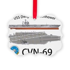 CVN-69 USS Dwight D Eisenhower Ornament