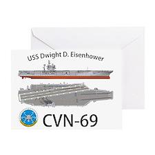 CVN-69 USS Dwight D Eisenhower Greeting Card