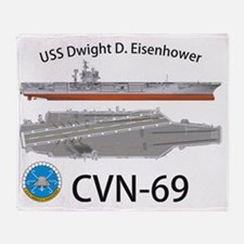 CVN-69 USS Dwight D Eisenhower Throw Blanket