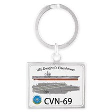 CVN-69 USS Dwight D Eisenhower Landscape Keychain