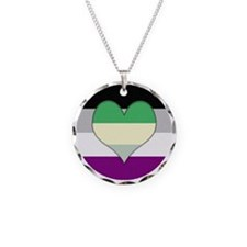 Aromantic Asexual Heart #2 Necklace