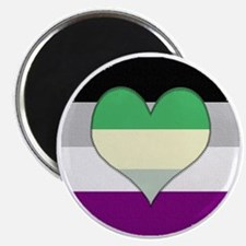 Aromantic Asexual Heart #2 Magnet
