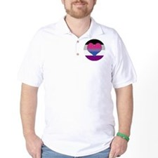 Biromantic Asexual Heart T-Shirt
