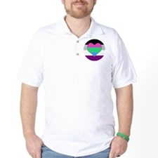 Polyromantic Asexual Heart T-Shirt