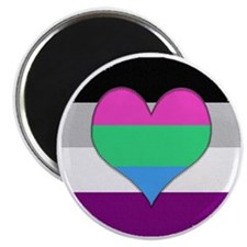 Polyromantic Asexual Heart Magnet
