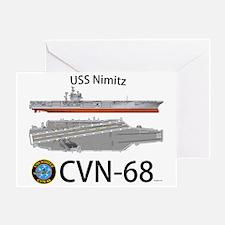 USS Nimitz CVN 68 Greeting Card