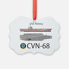 USS Nimitz CVN 68 Ornament