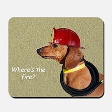 Dachshund Fireman Birthday Card by Focus Mousepad