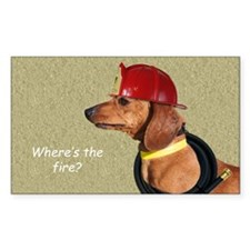 Dachshund Fireman Birthday Car Decal