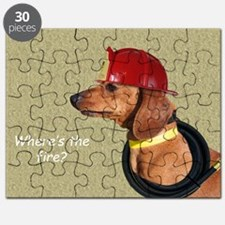 Dachshund Fireman Birthday Card by Focus fo Puzzle