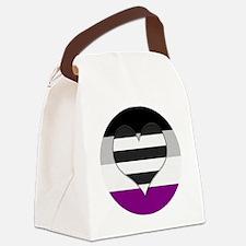 Heteroromantic Asexual Heart Canvas Lunch Bag