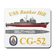 USS Bunker Hill CG-52 Mousepad
