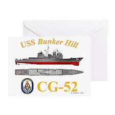 USS Bunker Hill CG-52 Greeting Card