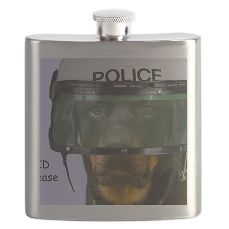 Rottweiler Police Birthday by Focus for a Ca Flask