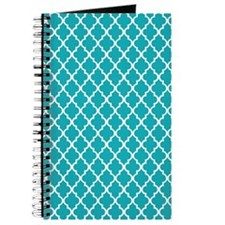 Peacock Quatrefoil Journal