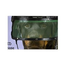 Rottweiler Police Birthday by Foc Rectangle Magnet