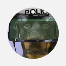 Rottweiler Police Birthday by Focus Round Ornament