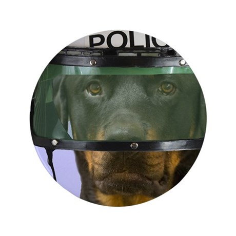"""Rottweiler Police Birthday by Focus fo 3.5"""" Button"""