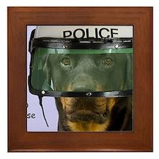 Rottweiler Police Birthday by Focus fo Framed Tile