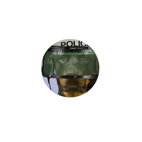 Rottweiler Police Birthday by Focus fo Mini Button