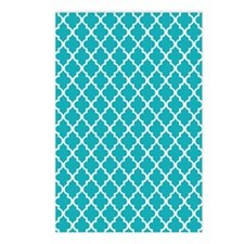 Peacock Quatrefoil Postcards (Package of 8)