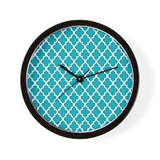 Peacock Quatrefoil Wall Clock