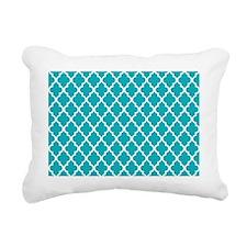 Peacock Quatrefoil Rectangular Canvas Pillow