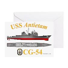 CG-54 USS Antietam Greeting Card