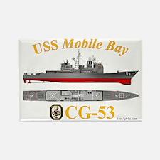CG-53 USS Mobile Bay Rectangle Magnet