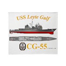CG-55 USS Leyte Gulf Throw Blanket