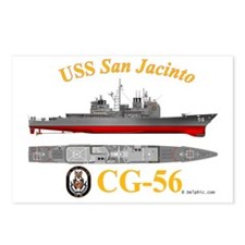 CG-56 USS San Jacinto Postcards (Package of 8)