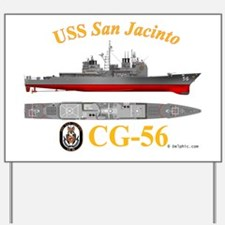 CG-56 USS San Jacinto Yard Sign