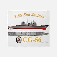 CG-56 USS San Jacinto Throw Blanket