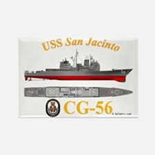 CG-56 USS San Jacinto Rectangle Magnet